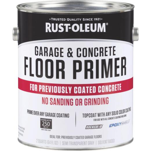 Rust-Oleum Garage & Concrete Floor Primer, Semi-Transparent Gray, Gal