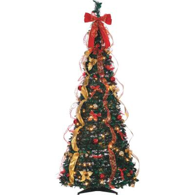 Gerson 6 Ft. Green Pine Pop-Up Christmas Tree